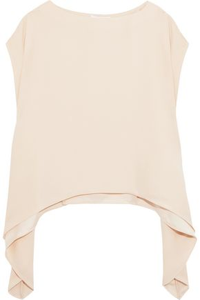IRO Lara asymmetric crepe de chine blouse