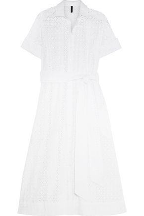 LISA MARIE FERNANDEZ Broderie anglaise cotton shirt dress