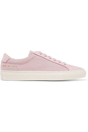 WOMAN by COMMON PROJECTS Original Achilles perforated nubuck sneakers