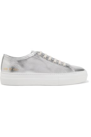 WOMAN by COMMON PROJECTS Tournament metallic leather sneakers