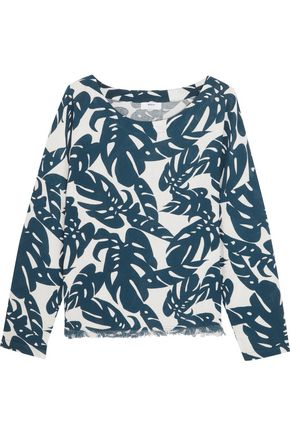 MIKOH Australia frayed printed cotton coverup