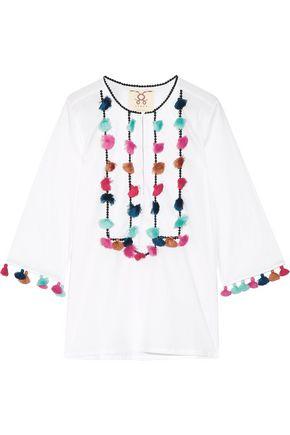 FIGUE Zita tasseled cotton-voile blouse