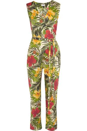 MIGUELINA Alexa printed cotton-voile jumpsuit
