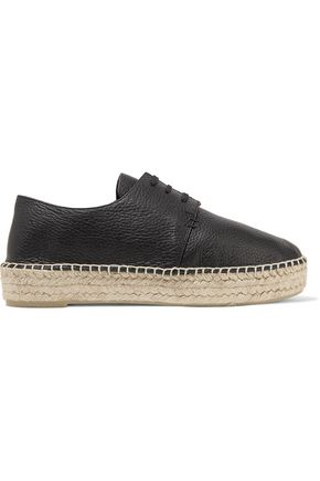 VINCE. Cynthia textured-leather platform espadrilles