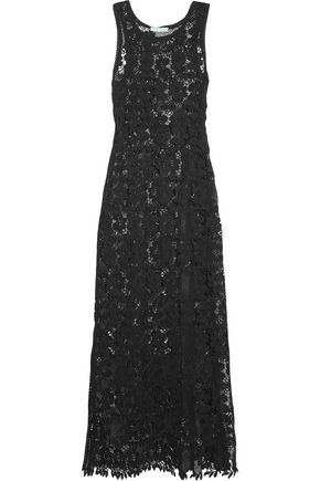 MELISSA ODABASH Guipure lace maxi dress