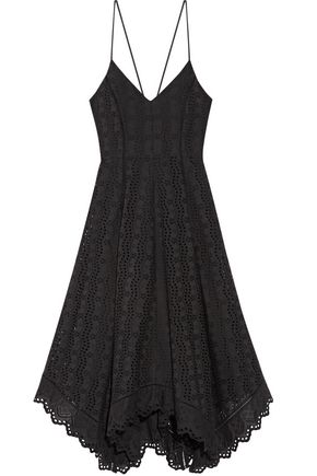 LOVESHACKFANCY Melody pointelle-trimmed broderie anglaise cotton dress