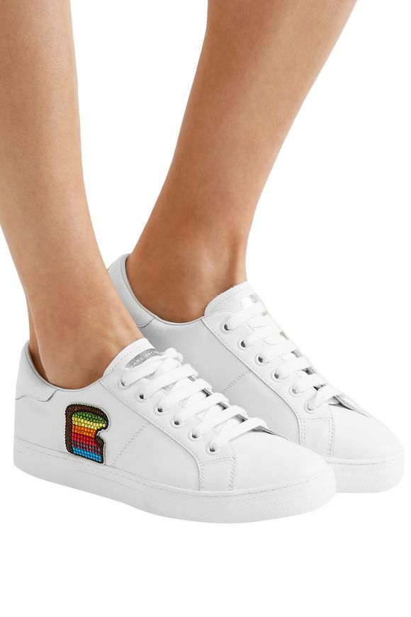 2243b49b4 Empire Toast embellished leather sneakers | MARC JACOBS | Sale up to ...