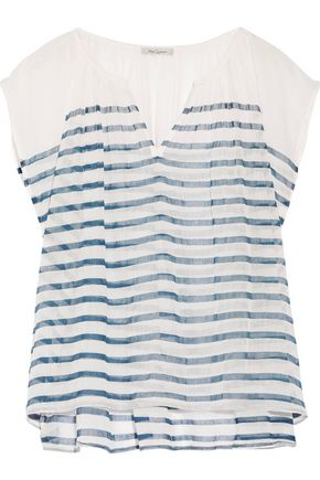MES DEMOISELLES Mathilde striped cotton-gauze top