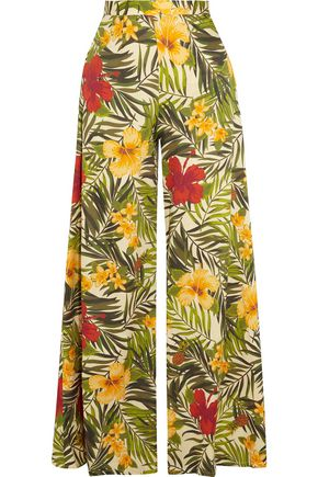 MIGUELINA Pamela printed cotton-voile wide-leg pants
