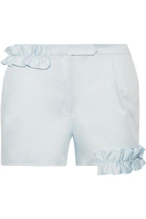 PASKAL Ruffle-trimmed cotton-blend shorts