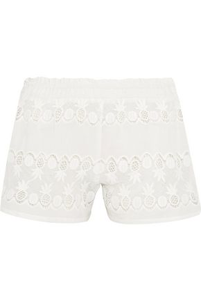 MIGUELINA Paula cotton-lace shorts
