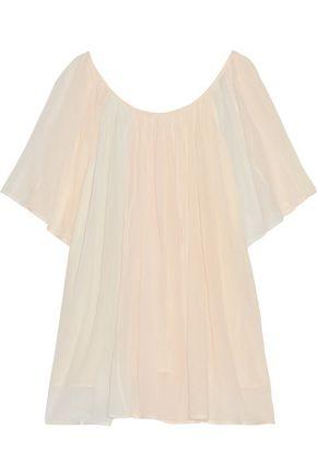 MES DEMOISELLES Rosace gathered cotton-gauze blouse