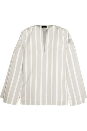 JOSEPH Denver striped cotton and silk-blend blouse