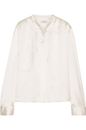 LEMAIRE Wrap-effect duchesse silk-satin top