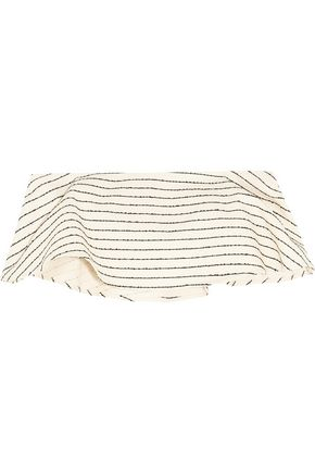 MARA HOFFMAN Striped basketweave cotton-blend bandeau top
