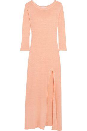 SOLID & STRIPED Slub linen-jersey maxi dress