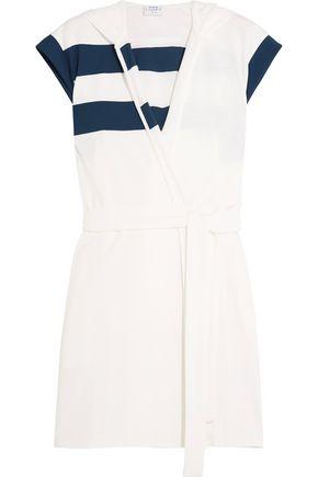FLAGPOLE Marina hooded striped jersey robe