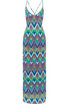 EMMA PAKE Emilia printed crepe de chine maxi dress