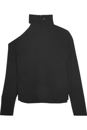 TIBI Savanna cutout crepe turtleneck top