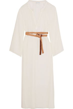 EBERJEY Haven Summer of Love bamboo and cotton-blend gauze midi dress
