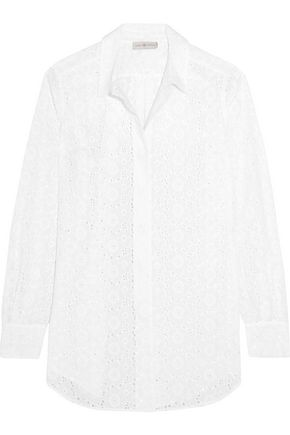 TORY BURCH Broderie anglais cotton-poplin coverup