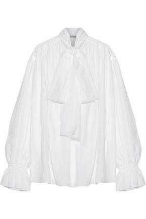 VIKA GAZINSKAYA Pussy-bow cotton-voile blouse