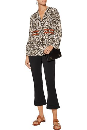 10 CROSBY DEREK LAM Printed silk top