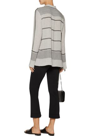 10 CROSBY DEREK LAM Ruffle-trimmed striped twill top