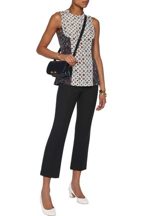 DEREK LAM 10 CROSBY Paneled printed silk top