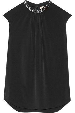 MICHAEL MICHAEL KORS Embellished stretch-jersey top