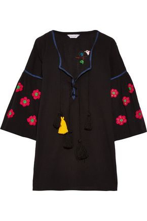 SENSI STUDIO Embroidered cotton mini dress