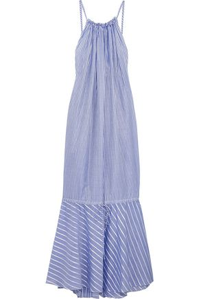 THREE GRACES LONDON Cassius striped cotton maxi dress
