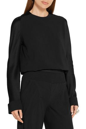 HAIDER ACKERMANN Crepe and satin top