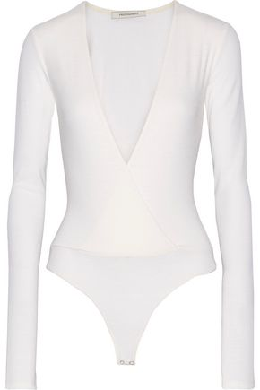 PROTAGONIST Wrap-effect wool-blend bodysuit