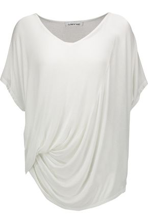 ELIZABETH AND JAMES Denver draped stretch-jersey T-shirt