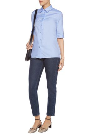 VICTORIA BECKHAM DENIM Cotton-poplin shirt