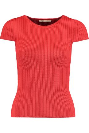 MAJE Ribbed-knit top