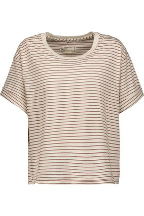 CURRENT/ELLIOTT The Sailor striped cotton-blend jersey T-shirt