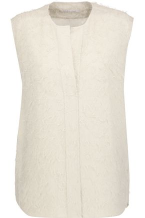 HELMUT LANG Fringed silk-blend top