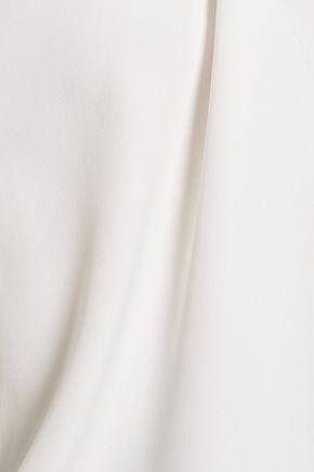 HALSTON HERITAGE Bead-embellished crepe de chine top