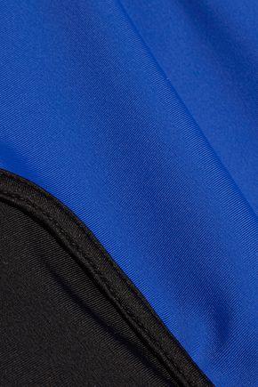 KENZO Cropped two-tone rash guard