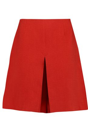 CARVEN Pleated crepe shorts