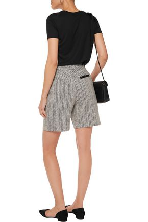CARVEN Button-appliquéd jacquard shorts