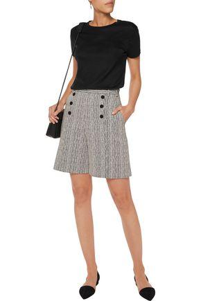 CARVEN Button-embellished jacquard shorts