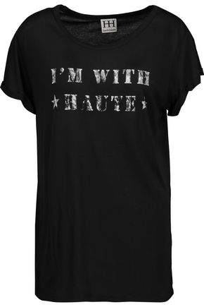 HAUTE HIPPIE I'm With Haute printed modal-jersey T-shirt