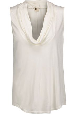 HAUTE HIPPIE Draped modal-jersey top