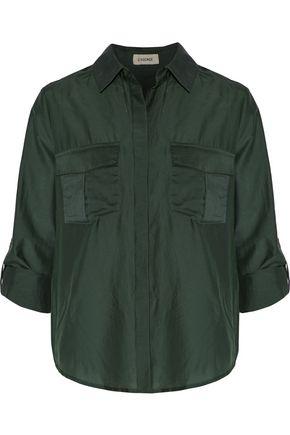 L'AGENCE Alek cotton and silk-blend shirt