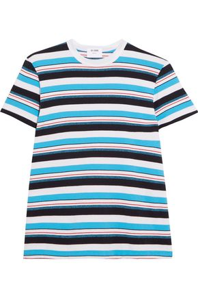 RE/DONE Striped cotton-jersey T-shirt