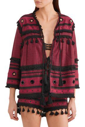 DODO BAR OR Embellished herringbone cotton jacket