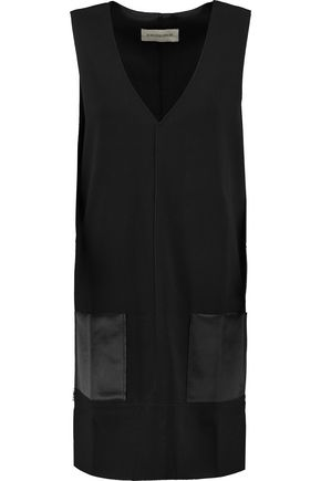 BY MALENE BIRGER Rosiala satin-trimmed crepe top